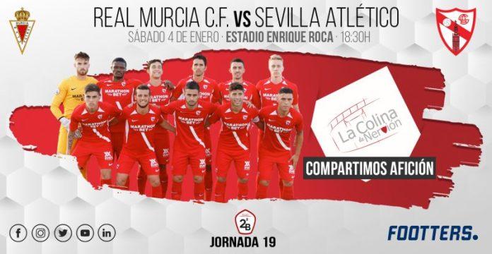 El Sevilla Atlético visita Murcia buscando finiquitar su mala racha