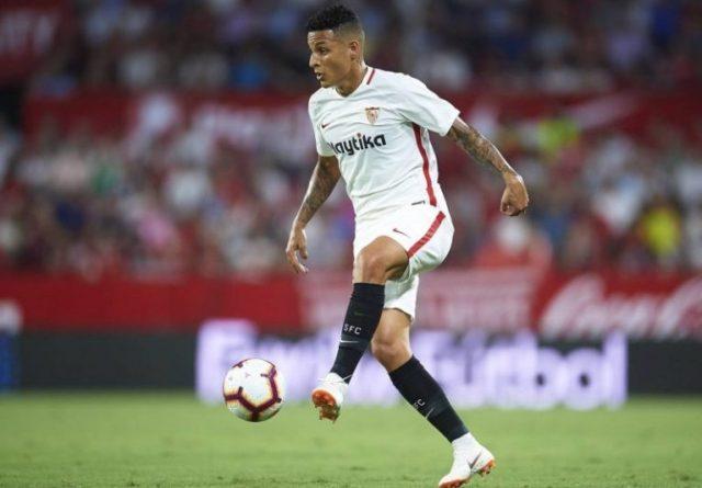 Arana, en una partido con el Sevilla