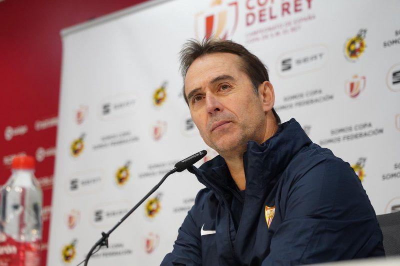 Lopetegui, técnico del Sevilla, durante una rueda de prensa previa a un partido de Copa del Rey   Imagen: Sevilla FC