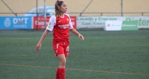 Olga Carmona, del Sevilla Femenino, durante el partido ante el Granadilla Tenerife | Imagen: Sevilla FC