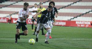 Pejiño, durante el partido del Sevilla Atlético ante el Cartagena |Imagen: La Colina de Nervión - Carmen Pera