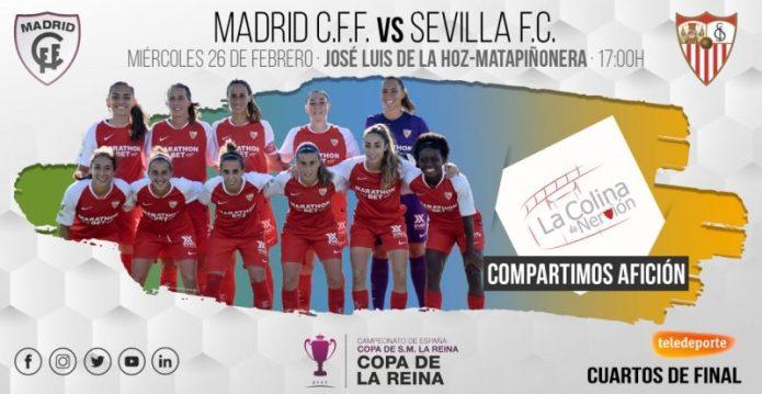 El Sevilla Femenino viaja a Madrid en busca de las semis de Copa