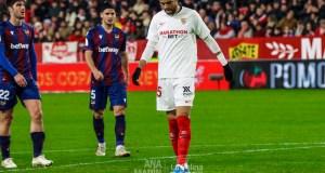 En-Nesyri, durante el partido de Copa del Sevilla FC frente al Levante | Imagen: La Colina de Nervión - Ana Marín
