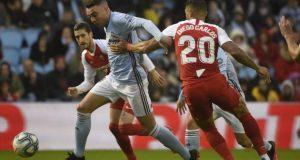 Diego Carlos, del Sevilla FC, durante el partido ante el Celta de Vigo | Imagen: MIGUEL RIOPA / AFP via Getty Images