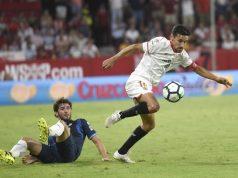 Jesús Navas jugando frente al Espanyol | Imagen: Sevilla FC