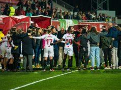 El Sevilla Femenino, celebrando el pase ante el Levante | Imagen: Sevilla FC