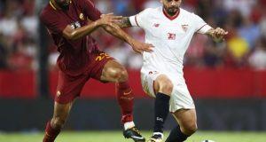 Banega, centrocampista del Sevilla FC, durante una disputa en el trofeo Antonio Puerta. | Imagen: Sevilla FC