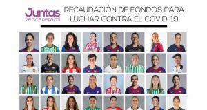 Varias futbolistas del Sevilla FC Femenino representan al club dentro del proyecto solidario Juntas Venceremos, que luchará contra el COVID-19
