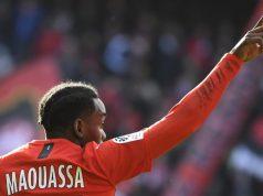 Faitout Maouassa, objetivo del Sevilla FC, en un encuentro con el Rennes
