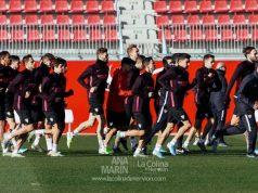 La plantilla del Sevilla, durante un entrenamiento