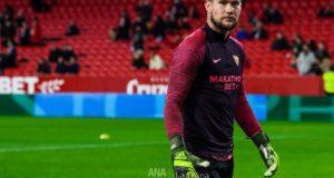 Vaclik, en un partido del Sevilla FC contra el Levante