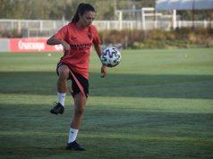 Inma Gabarro, entrenando con el Sevilla FC Femenino