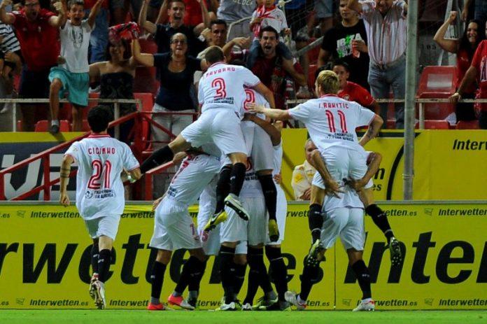 gol celebración sevilla fc fútbol club noticias