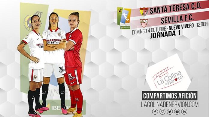 Puesta de largo del Sevilla FC Femenino ante el Santa Teresa Badajoz