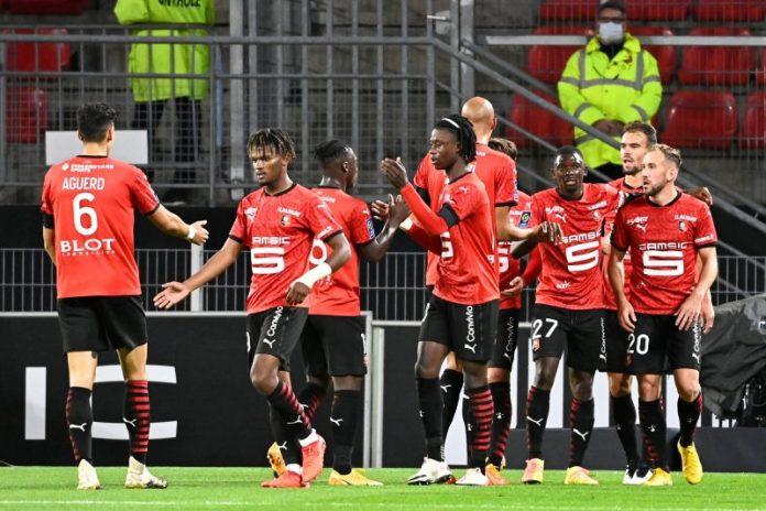 noticias Sevilla FC El Rennes celebra un gol en su anterior encuentro de Ligue 1 ante el Angers