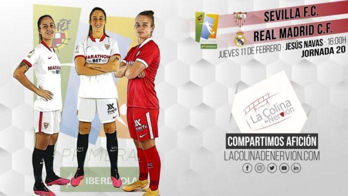 Imagen previa al partido del Sevilla FC Femenino y el Real Madrid Femenino.