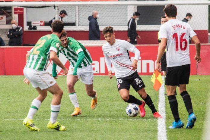 Sevilla Atlético y Betis Deportivo firman tablas en el derbi de filiales