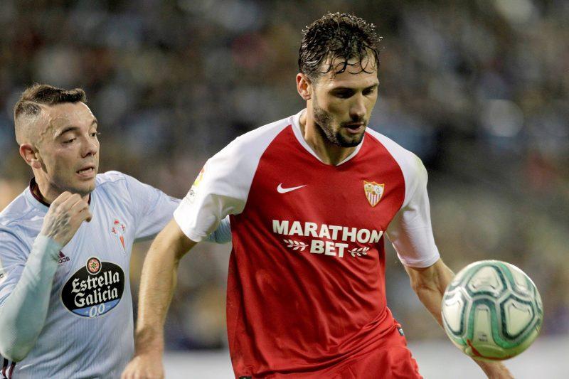 Franco Vázquez, en el partido del Sevilla FC ante el Celta de Vigo de la temporada 2019-2020