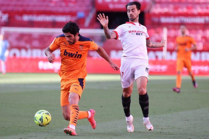 Gonçalo Guedes, en un encuentro ante el Sevilla FC