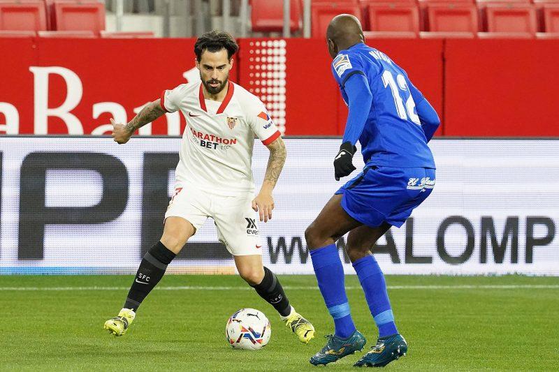 Suso en el partido entre el Sevilla FC y el Getafe CF noticias
