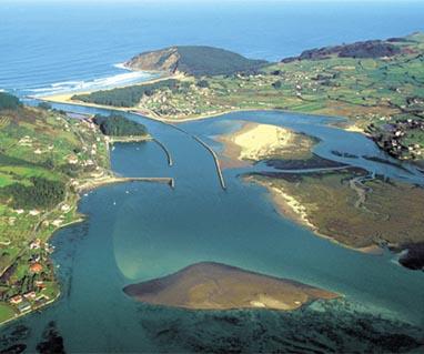 El estuario de Villaviciosa desde el aire