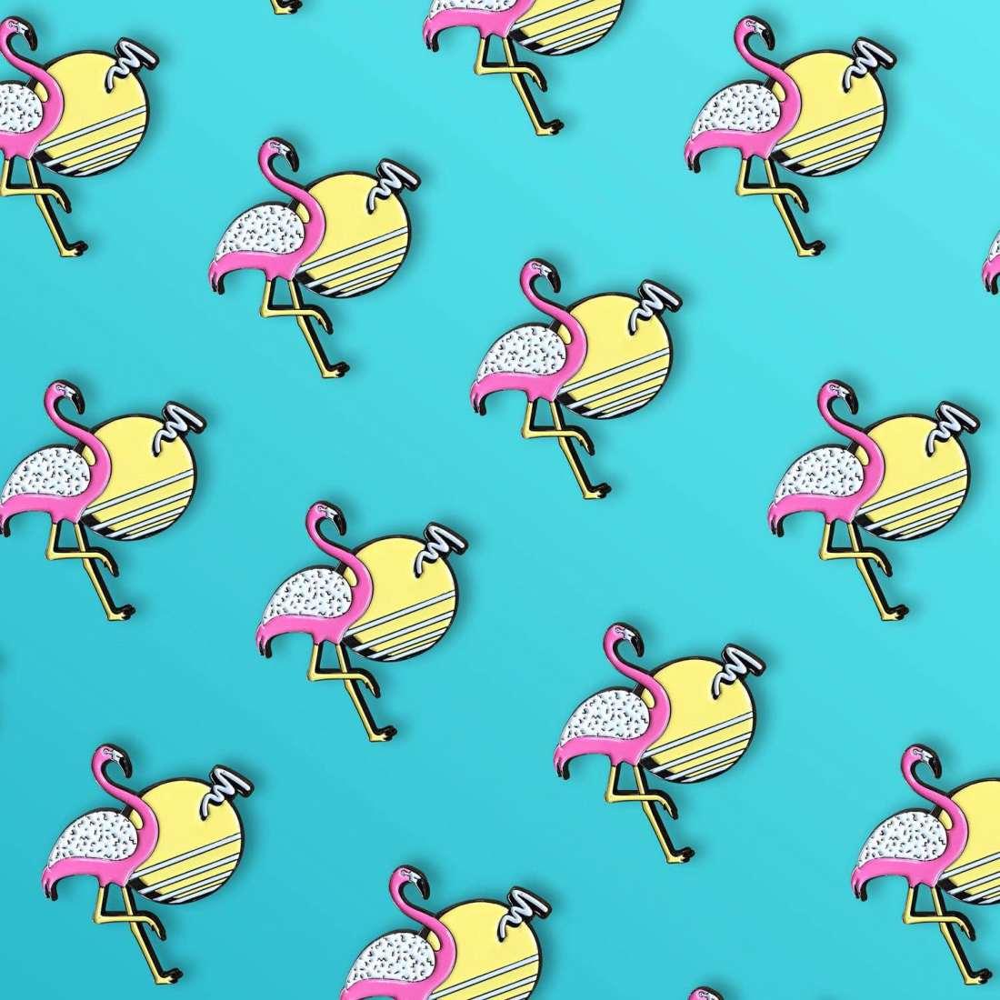 Sunset Flamingo Pin by La Come Di
