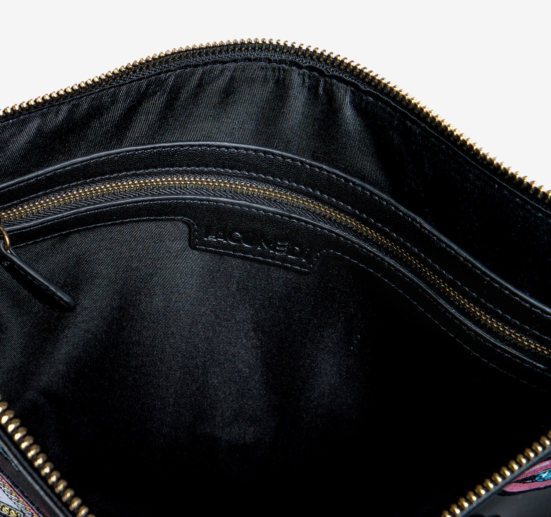 Double Sided Patched Clutch Bag