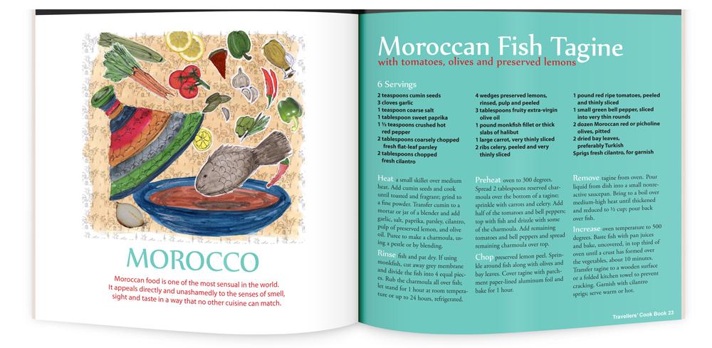 recipe illustration and layout