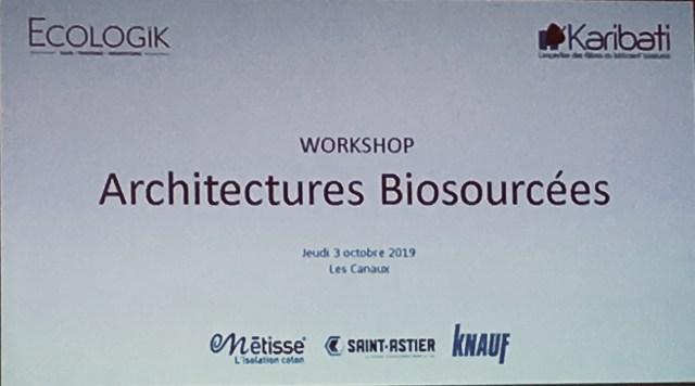 workshop matériaux biosourcés du bâtiment