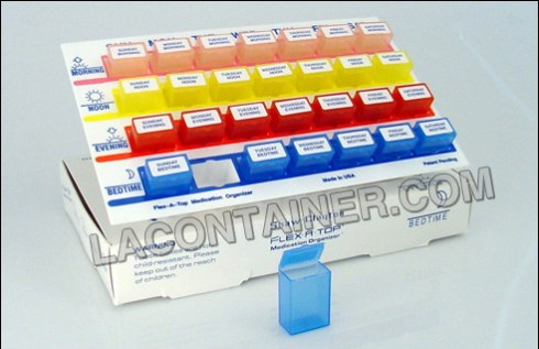 Medication Organizers for plastic containers