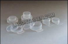 Point of purchase packaging container with hang tabs