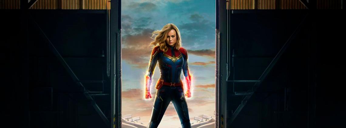 Captain Marvel estrena un nuevo poster en movimiento