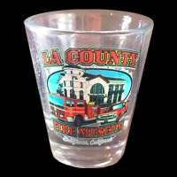 Shot Glass with Museum, Squad 51 & Engine 51 on it