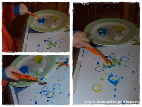 Peinture Pour Enfant Sans Pinceaux 1 La Cour Des Petits