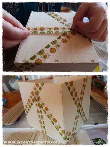 decorer une boite en bois avec les
