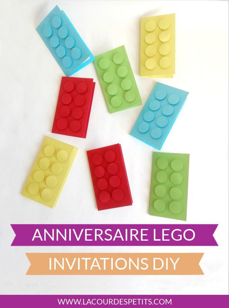 invitation d anniversaire lego