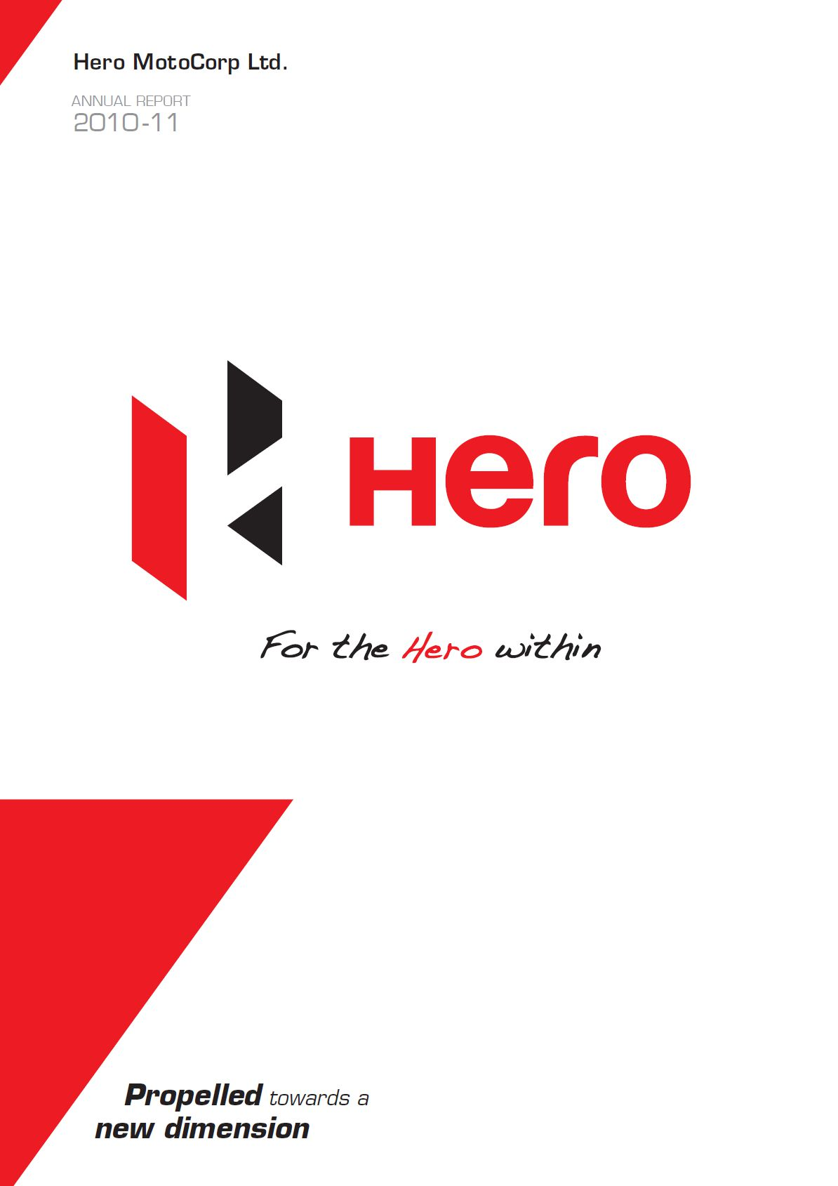 LACP 2011 Vision Awards Annual Report Competition  Hero MotoCorp Ltd  AICL Communications Limited