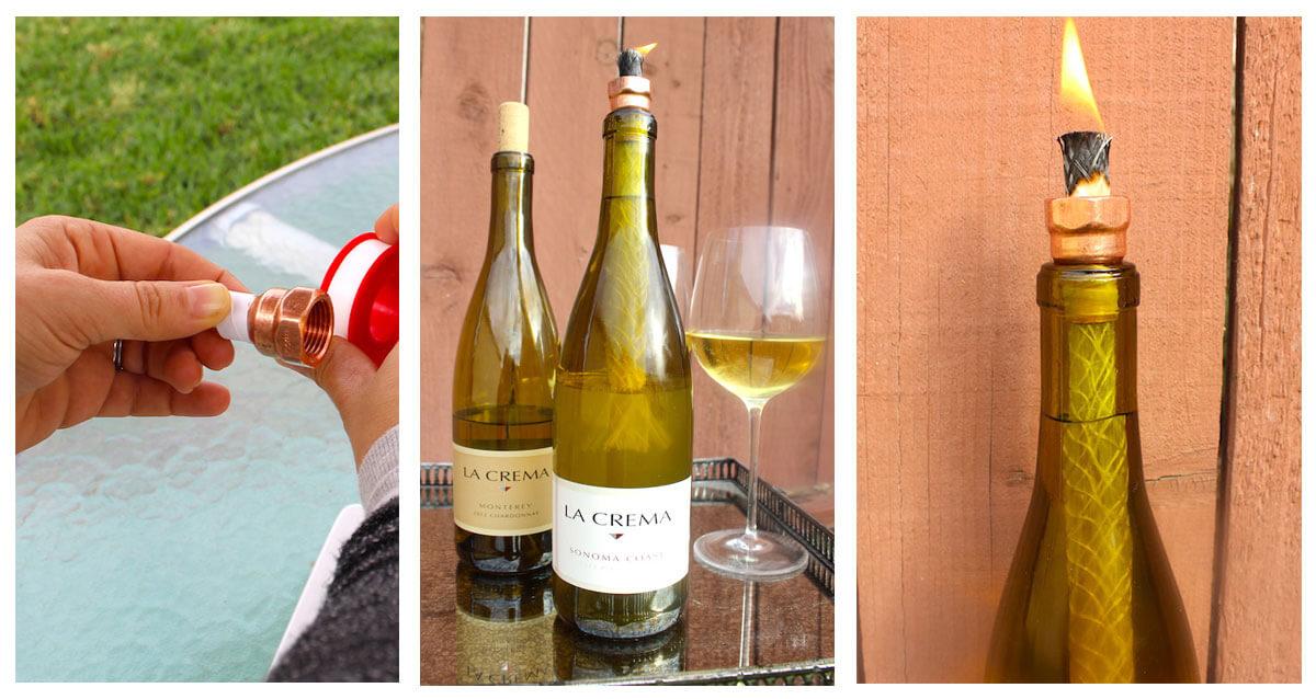 DIY: Wine Bottle Lantern