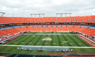 Jan.1, 2013; Miami, FL, USA; A general view of the Orange Bowl game before a game between the Northern Illinois Huskies and the Florida State Seminoles at Sun Life Stadium. Mandatory Credit: Steve Mitchell-USA TODAY Sports