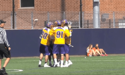 .@Laxdotcom Caught Lyle and Miles Thompson Scoring an Amazing Circus Goal
