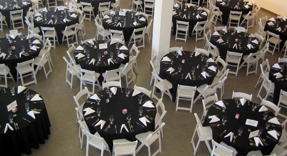 tables and chairs rental price gold damask chair covers la crosse tent awning list agreement more