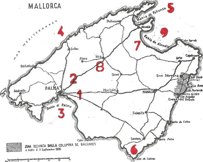 mapa mallorca aviacion italiana lacruelguerra.com
