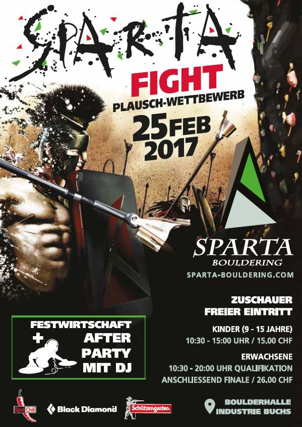 Flyer Sparta Fight_Boulderhalle Buchs