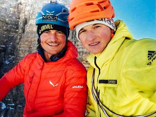 Michi Wohlleben und Simon Gietl auf dem Preussturm