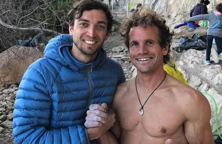 Roger Schaeli klettert Gorilas in Niebla bei Oliana