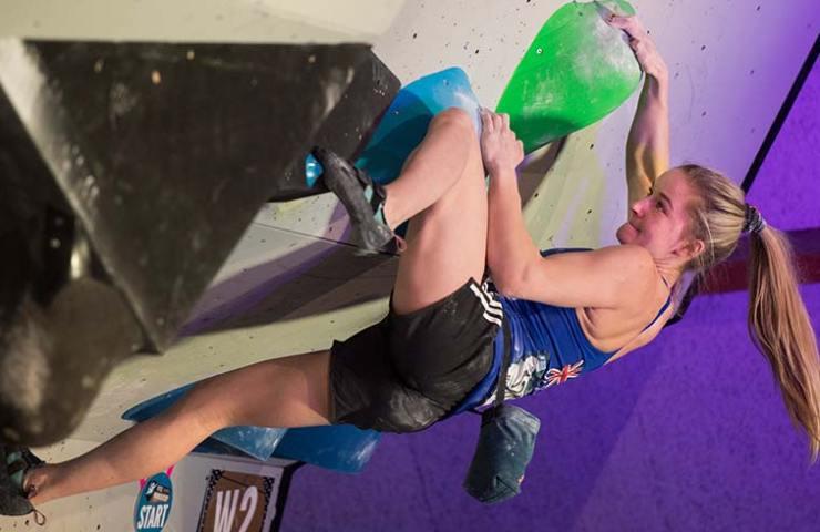Shauna Coxsey gana el Mundial de Boulder en Meiringen - Imagen SAC davidschweizer