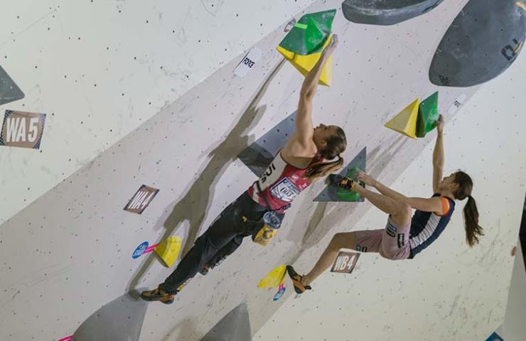 Petra Klingler at the Boulder World Cup in Tokyo