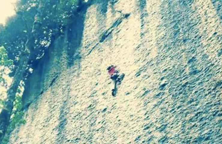 Alex Luger climbs Speed at Voralpsee