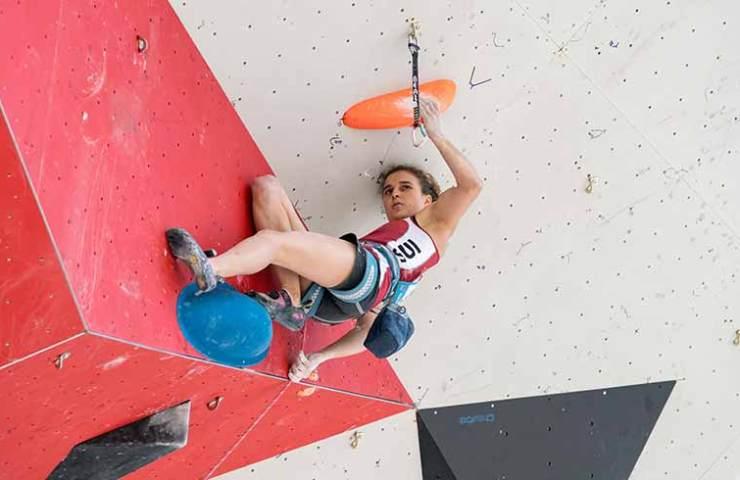 Anne Sophie Koller verpasst den Final am IFSC Weltcup in Chamonix haarscharf