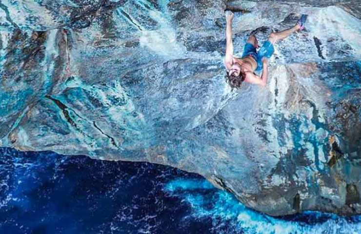 Chris Sharma: Harte Deep Water Soloing Route erstbegangen_Big Fish